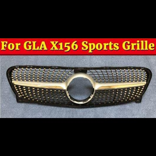 AL 車用外装パーツ ダイヤモンド スタイル グリッド グリル X156 GLA45 ABS シルバー 適用: ベンツ GLAクラス GLA180 GLA200 250 フロント グリル 14-16 タイプ001 AL-EE-1048
