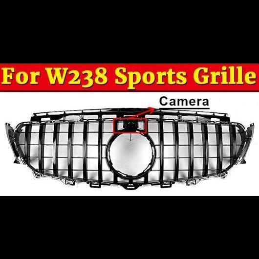 AL 車用外装パーツ GTS スタイル グリッド W238 スポーツ E63 ABS ブラック カメラホール 適用: メルセデスベンツ Eクラス E200 E250 E300 グリル 2016+ タイプ001 AL-EE-1076