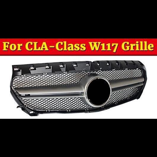 AL 車用外装パーツ 適用: メルセデスベンツ W117 フロント グリッド CLAクラス CLA180 CLA200 CLA250 CLA45 ABS シルバー メッシュ 14-16 タイプ001 AL-EE-1082