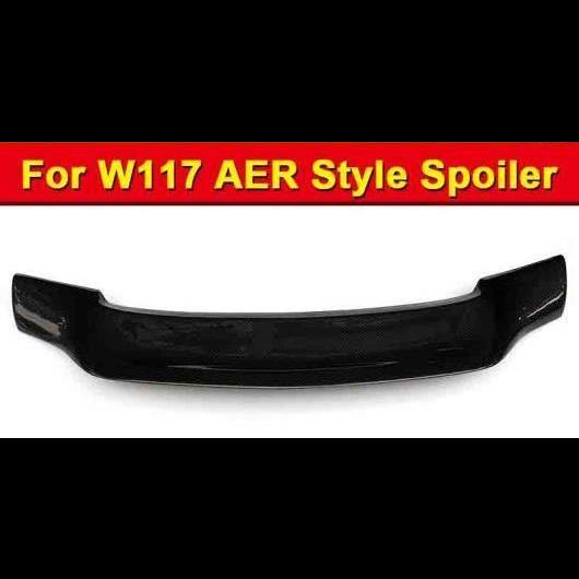 AL 車用外装パーツ 適用: メルセデスベンツ W117 R スタイル カーボンファイバー リア ウイング スポイラー CLAクラス CLA180 200 250 CLA45 トランク 13-18 タイプ001 AL-EE-1092