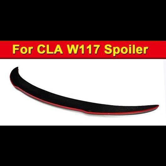 AL 車用外装パーツ W117 CLAクラス セダン カーボンファイバー CF トランク スポイラー ウイング FD レッド ライン スタイル 適用: メルセデス CLA180 CLA200 CLA250 CLA45 リア 13- タイプ001 AL-EE-1111