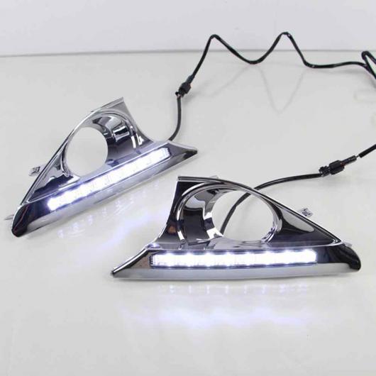 AL 適用: トヨタ カムリ 2011 2012 2013 2014 個 2個 8 LED デイタイム ランニング ライト DRL デイライト ランプ ターン ライト ホワイト AL-EE-3811