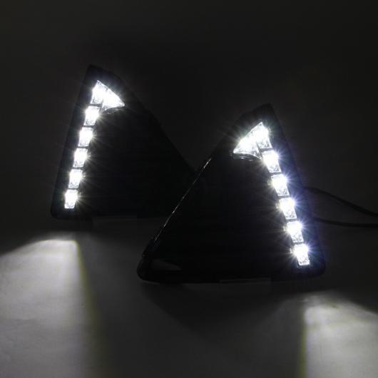 AL 点滅 1 セット 適用: フォード フォーカス 2012-2015 LED DRL デイタイム ランニング ライト デイライト イエロー ターンシグナルランプ ABS+LED ホワイト AL-EE-3842