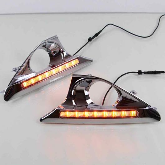 AL 適用: トヨタ カムリ 2011-2014 DRL デイタイム ランニング ライト フォグライト スーパー ブライト フレキシブル 防水 ターンシグナル ホワイト & オレンジ AL-EE-3844