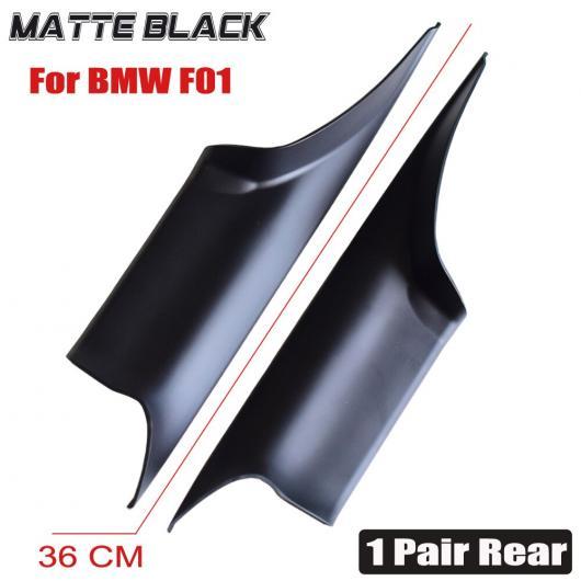 AL ブライト ブラック/カーボンファイバー ドア ハンドル 適用: BMW F01 F02 7シリーズ 730 ABS プラスチック パネル プル トリム カバー 1ペア・リア・マット・F01 AL-EE-4183