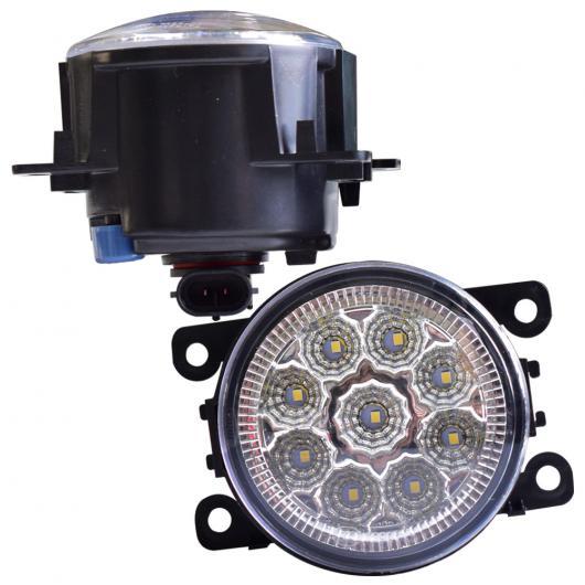 AL フロント バンパー フォグライト 適用: 日産 フロンティア 2.8L 4CYL ディーゼル 2004-2012 高輝度 LED フォグランプ ライト LED 9 ライト ホワイト・LED 9 ライト イエロー AL-EE-3824