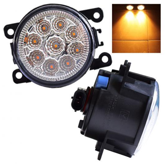 AL 2個 12V DRL 適用: ランプ ライト LED ライト 9W/セット 三菱 L200 KB_T KA_T ピックアップ 2005-2015 フォグ ランプ ライト LED 9 ライト ホワイト・LED 9 ライト イエロー AL-EE-3845