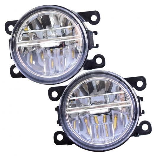 AL 1 ペア フロント バンパー LED フォグライト 適用: スズキ ジムニー FJ 1998-2015 自動車 高輝度 フォグランプ LED ホワイト・LED イエロー AL-EE-3894
