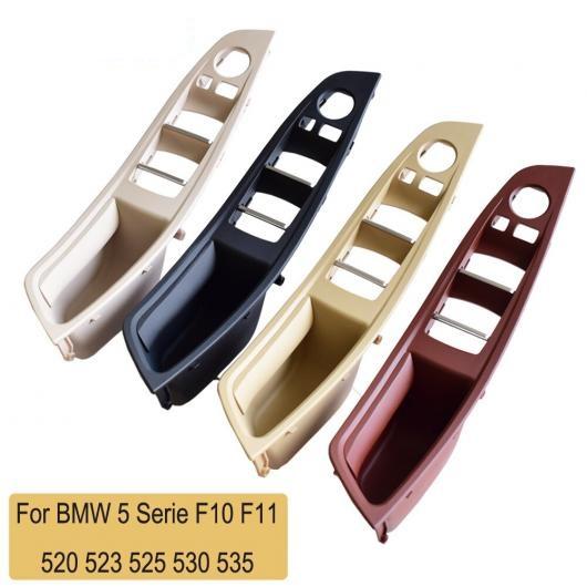 送料無料! AL ABS プラスチック RHD ブラック/レッド インテリア ドア パネル ハンドル プル パネル トリム カバー 適用: 5シリーズ F10 F11 520 525 530 535 ブラック・4個~レッド ワイン・4個 AL-EE-4144
