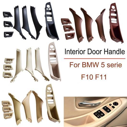 AL 適用: BMW 5 シリーズ F10 F11 520 523 525 530 535 インテリア ドア ハンドル ABS パネル プル トリム カバー ブラック/ベージュ ブラック・7個~レッド ワイン・7個 AL-EE-4145