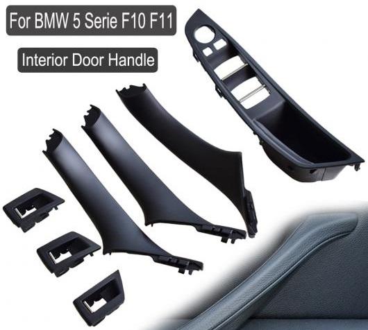 AL プラスチック ABS ブラック/ベージュ インテリア ドア ハンドル パネル セダン プル トリム カバー 適用: BMW 5 シリーズ F10 F11 520 523 525 ブラック・7個~レッド ワイン・7個 AL-EE-4148