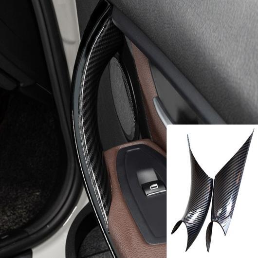 AL オート スナップイン ドア ハンドル 保護 トリム プル 適用: BMW 3 4シリーズ F30 F35 2012-2016 ウォールナット/カーボン テクスチャ ABS カーボン ファイバー・4個・ウォルナット・4個 AL-EE-4163