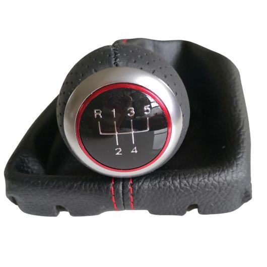 AL トップ レザー ギア シフト ノブ 5/6 レバー スティック ゲートル ブーツ カバー 適用: アウディ A4 B8 2008-2015 パサート CC 2009-2010 3~6 AL-EE-4185