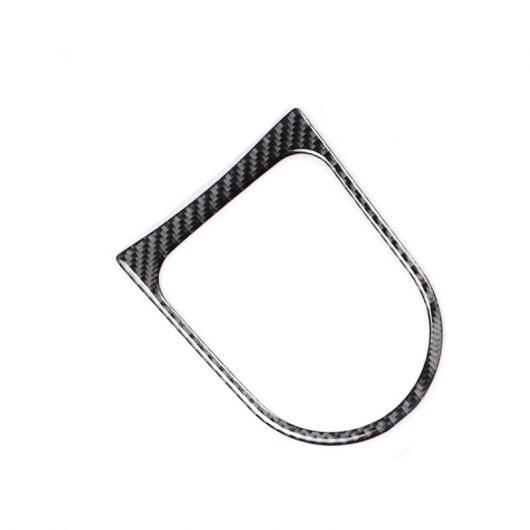 AL カーボンファイバー セントラル ギア シフト フレーム 装飾 カバー トリム 適用: フォード マスタング 2015-2017 1ピース AL-EE-4359