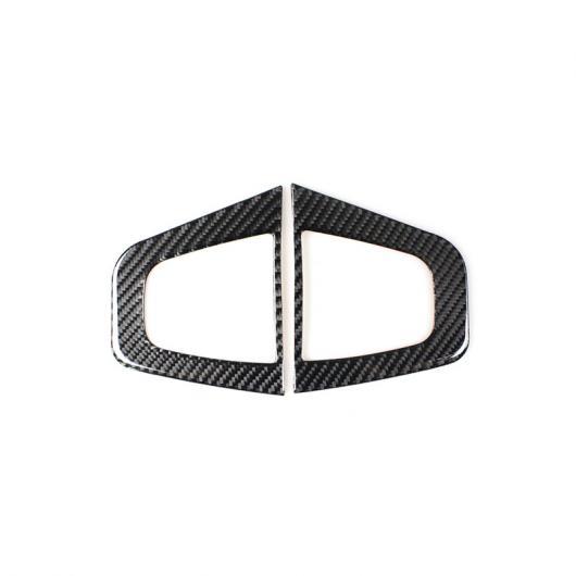 AL カーボンファイバー センター コンソール ステレオ ラウドスピーカー フレーム 装飾 適用: スバル フォレスター 2013-18 ホーン オーディオ スピーカー カバー トリム 2ピース AL-EE-4390