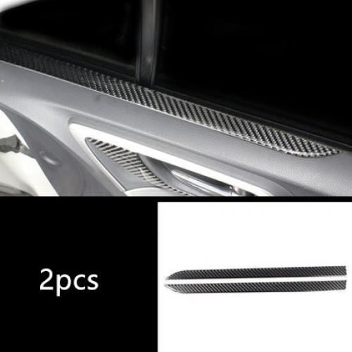 AL カーボンファイバー ドア パネル 装飾 カバー トリム 適用: スバル フォレスター 2013-18 センター コンソール 助手席 ストレージ ボックス トリム ストリップ 2ピース AL-EE-4396