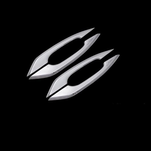 AL クローム アウター ドア ハンドル 装飾 フレーム トリム ドア ボウル カバー 適用: アウディ A4 B9 2017-2019 ドアノブ ストリップ ドアハンドル AL-EE-4558