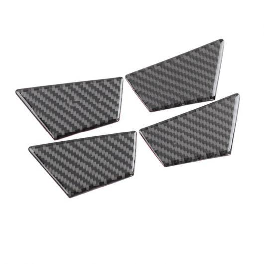 AL ドア ボウル フレーム カバー カーボンファイバー ステッカー ワーニング ボタン トリム 適用: アウディ A6 C7 2012-18 ドアボウル AL-EE-4591