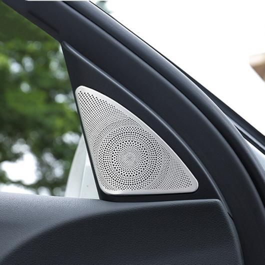 AL ドア ステレオ スピーカー 装飾 フレーム カバー ステンレス スチール リア オーディオ スピーカー トリム 適用: アウディ A4 B8 2009-16 フロント AL-EE-4686