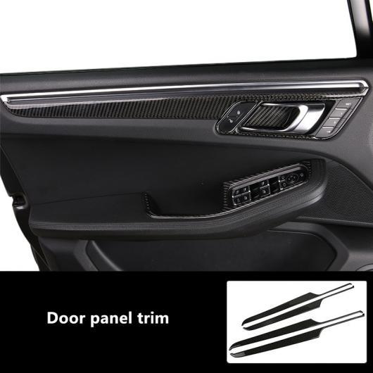 AL カーボンファイバー 適用: ポルシェ マカン 2014-2018 ドア パネル 装飾 カバー トリム ドア ハンドル ステッカー ドアパネル AL-EE-4818