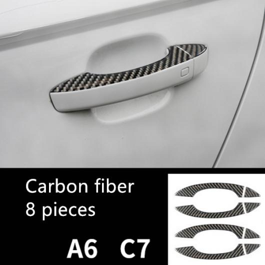 AL コンソール ギアシフト カーボンファイバー ステッカー トリム 適用: アウディ A7 A6 C7 RHD CD パネル フレーム カバー ドアハンドル トリム AL-EE-5045