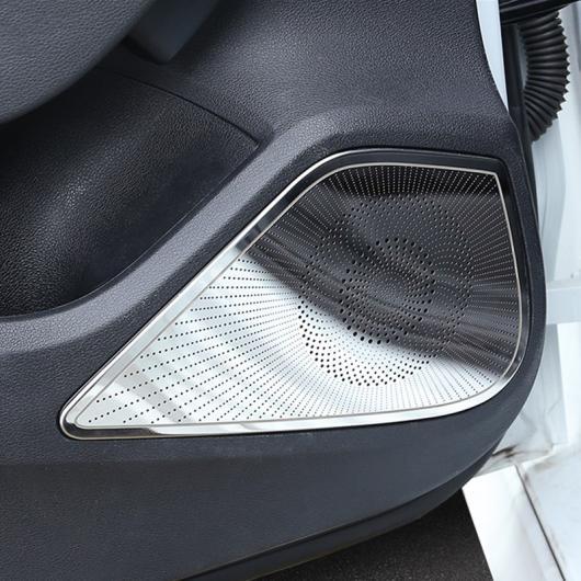 AL オーディオ スピーカー 装飾 ステッカー 適用: アウディ A3 8V 2013-18 ドア ステレオ スピーカー 装飾 フレーム カバー トリム ミラー AL-EE-5061