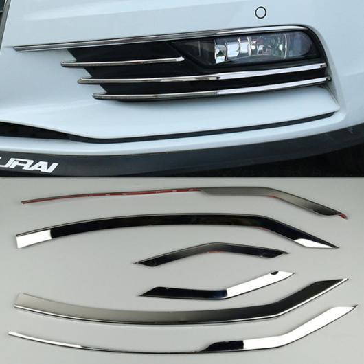 AL フロント バンパー 装飾 トリム ストリップ 適用: アウディ A3 8V セダン 2014-2016 ステンレス スチール フォグランプ グリッド ステッカー 11ピース AL-EE-5097