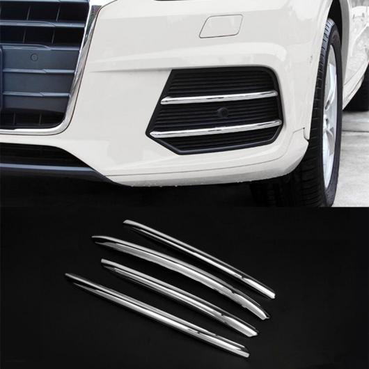 AL クローム フロント フォグランプ グリッド グリッド 装飾 カバー ステッカー トリム 4個 適用: アウディ Q3 2016 AL-EE-4586