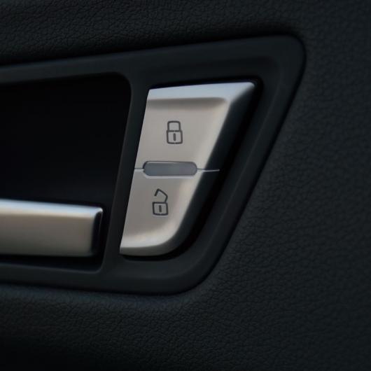 AL ドア ロック ボタン 装飾 フレーム カバー クローム ABS ステッカー トリム 4個 適用: アウディ A4 B8 2009-16 AL-EE-4588