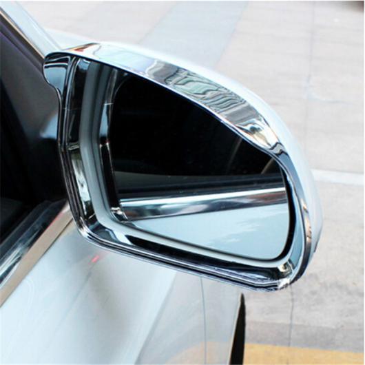 AL クローム ドア ミラー 装飾 フレーム カバー アウター バックミラー ミラー レイン アイブロー トリム 適用: アウディ Q3 AL-EE-4605
