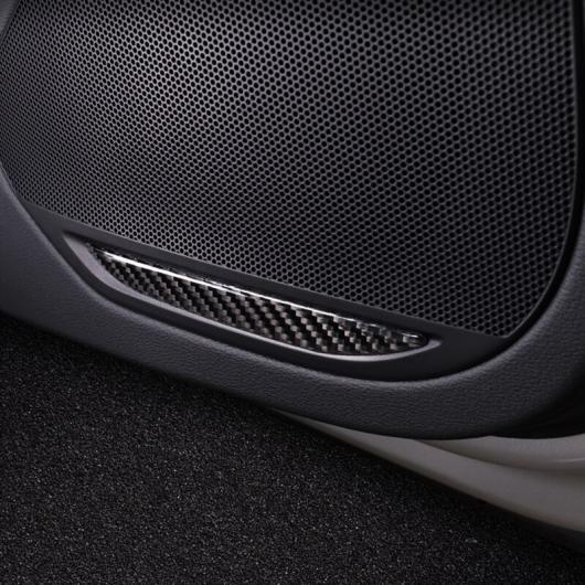 AL カーボンファイバー ドア ステレオ スピーカー パネル 装飾 カバー ステッカー トリム 4個 適用: アウディ A4 B9 2017-19 AL-EE-4654
