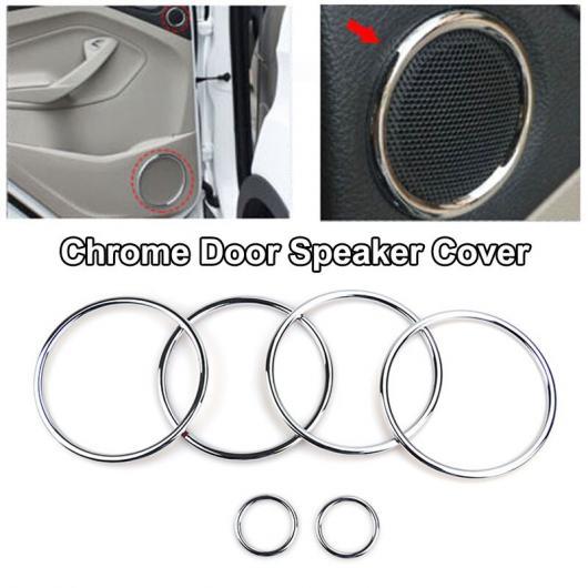 AL 適用: フォード エスケープ クーガ 2017-2018 クローム インテリア パネル AC カバー トリム 装飾 ドアスピーカーカバー AL-EE-5592