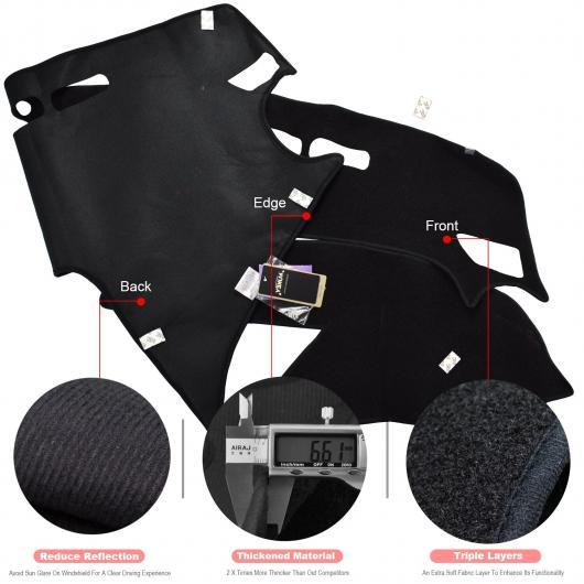 AL ダッシュボード カバー ダッシュ マット 適用: マツダ 3 M3 アクセラ BL 2009-2013 自動車 滑り止め サン シェード ダッシュマット パッド カーペット AL-EE-5359