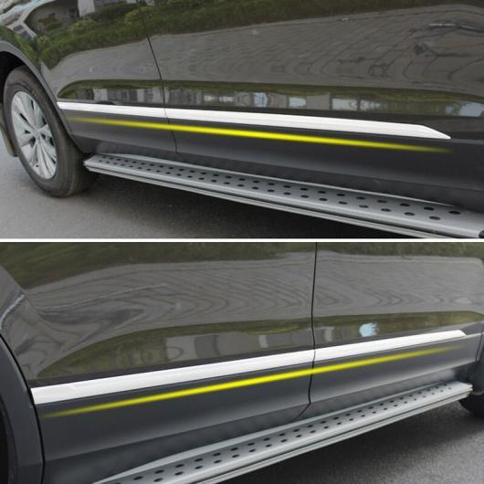 AL 適用: フォルクスワーゲン VW ティグアン MK2 2016-2019 ステンレス ドア サイド ボディ クローム トリム カバー ストリップ 装飾 AL-EE-5620