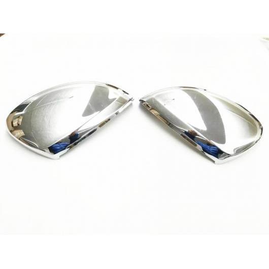 AL 適用: フォルクスワーゲン ティグアン L ティグアンL MK2 2016 2017 2018 装飾 リア ビュー バックミラー サイド ガラス ミラー カバー トリム フレーム 2ピース ABSクローム AL-EE-6081