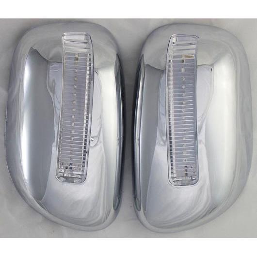 AL クローム ミラー カバー 適用: トヨタ カローラ 2001-2004 ABS サイド ライト ミラー カバー トヨタ カローラ 2002 2003 2ピース クロームLEDあり AL-EE-6587