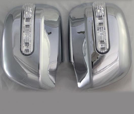 AL 適用: トヨタ ハイランダー クルーガー 2003 2004 2005 2007/アルファー 2006 2007 スタイル ABS クローム メッキ ドア ミラー カバー LED AL-EE-6005