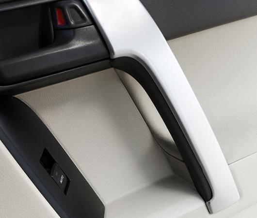 AL 適用: トヨタ プラド FJ 150 FJ150 2014-2017 2018 ABS マット フロント アームレスト パネル トリム ドア ハンドル 装飾 カバー 2ピース AL-EE-6020