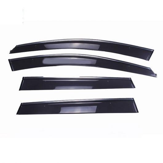 AL 適用: ボルボ XC60 XC 60 10-15 ABS プラスチック エクステリア ウインドウ バイザー 日よけ レイン サン デフレクター ガード 吹き出し口 カバー 4ピース AL-EE-6096