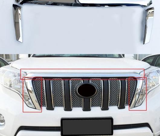 AL カバー ケース ステッカー 適用: トヨタ プラド FJ150 FJ 150 2014-2017 3ピース ヘッド レーシング グリル 装飾 カバー ケース ステッカー AL-EE-6154