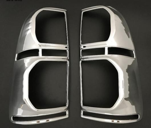AL 2ピース 適用: トヨタ ハイラックス ABS マット ブラック リア ランプ カバー テール ランプ ケース トヨタ ハイラックス ヴィーゴ 2012 2013 2014 ブラック・クロム AL-EE-6295
