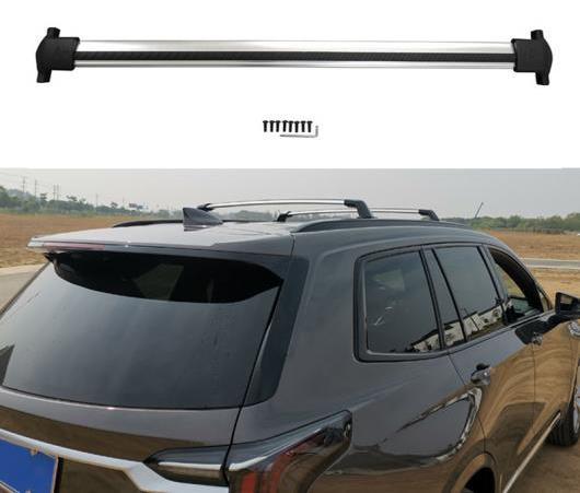 AL 2ピース ルーフバー 適用: キャデラック XT6 2019 2020 アルミニウム 合金 サイド バー クロス レール ルーフ ラック ラゲッジ CUV SUV AL-EE-6315