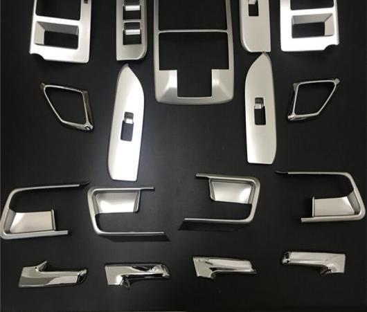 AL ABS クローム インテリア ダッシュ ボード エア 吹き出し口 カバー 適用: トヨタ ランドクルーザー プラド FJ150 FJ 150 2014 2015 2016 2017 2018 17ピース AL-EE-6365