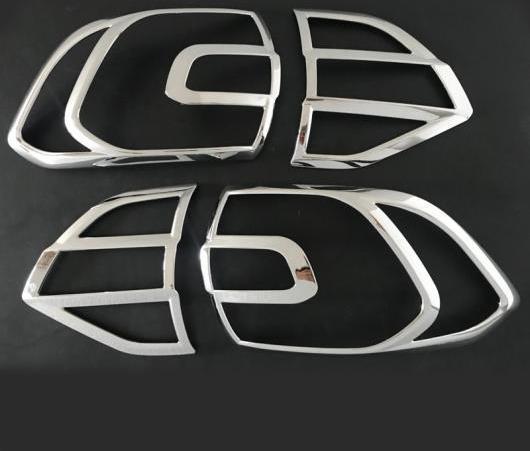AL ABS クローム テール ライト カバー 適用: フォード エベレスト エンデバー 2016 2017 2018 2019 4ピース AL-EE-6378