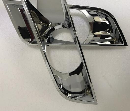 AL ABS クローム フォグライト カバー 適用: フォード レンジャー T7 2016-2018 2ピース ブラック・クロム AL-EE-6388
