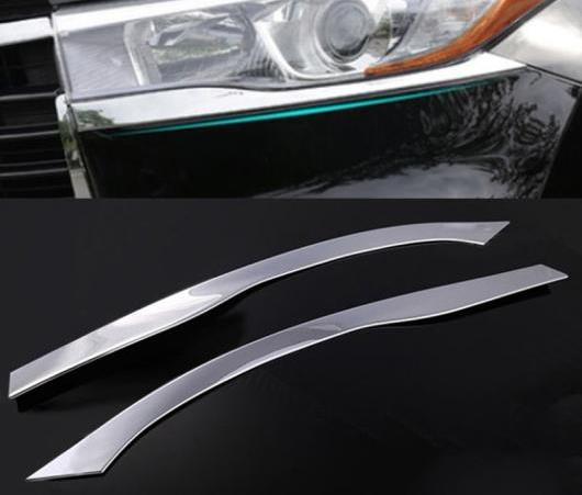AL 適用: トヨタ ハイランダー 2014 2015 クルーガー クローム ヘッドライト アイリッド トリム カバー アイブロー ガーニッシュ AL-EE-6451