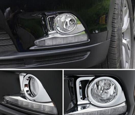 AL 適用: トヨタ ハイランダー クルーガー 2014 2015 クローム フロント フォグライト カバー トリム ガーニッシュ フォグライト ランプ AL-EE-6464