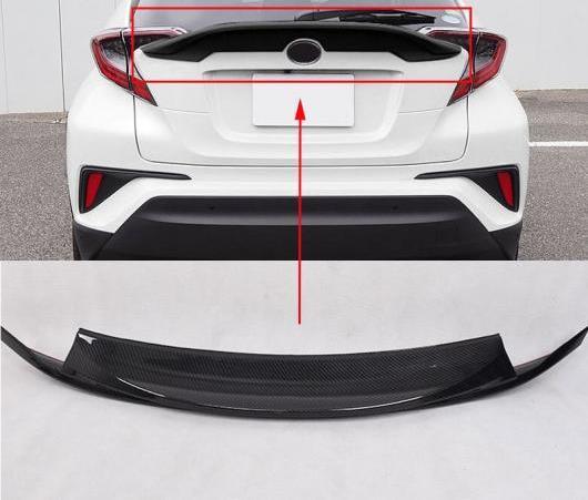 AL カーボンファイバー プラスチック リア ウイング スポイラー カバー トリム 1ピース 適用: トヨタ C-HR CHR 2016 2017 2018 AL-EE-6532