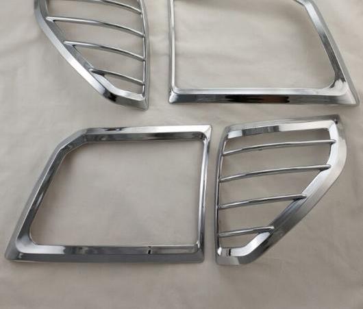 AL クローム ヘッド ライト カバー 適用: トヨタ ランドクルーザー プラド FJ90 3400 スポイラー SUV ABS ランプ カバー AL-EE-6582