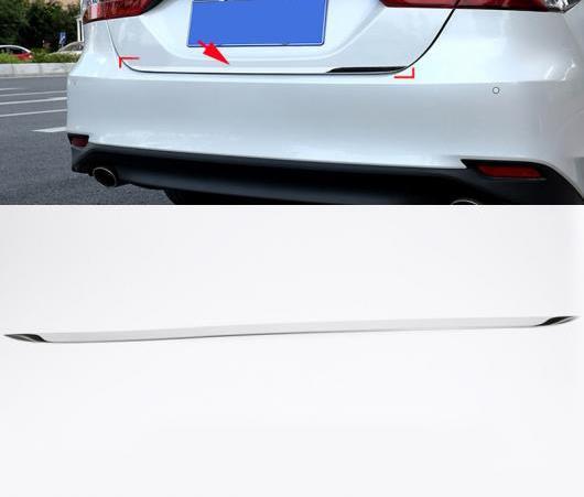 AL リア トランク テールゲート ドア ストリップ ストリーマー メンバー カバー トリム 適用: トヨタ カムリ 2018-2019 ステンレス スチール AL-EE-6675